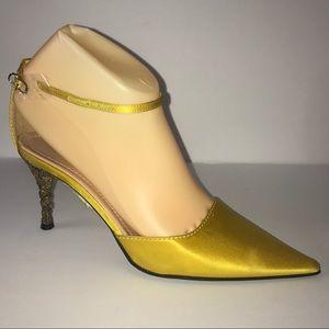 CASADEI Satin Strappy Low Heel 6.5 NEW
